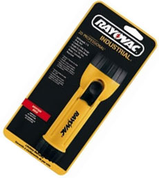 Rayovac 2D Krypton Yellow Industrial Flashlight with Ring Hanger, IN2-K