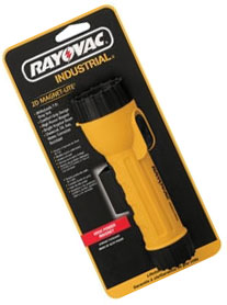 Rayovac 2D Industrial Flashlight with Krypton Bulb & Magnet, IN2-KML