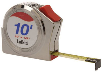 "Lufkin 1/2"" X 10' Series 2000 Power Return Tape"