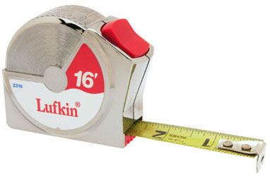 "Lufkin 3/4"" X 16' Series 2000 Power Return Tape"