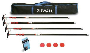 Zipwall ZipPole Posts For Haunted House Walls