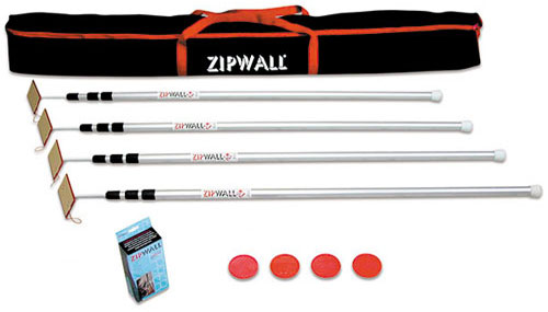 ZipWall SLP4 Spring Loaded Adjustable Poles For Haunted House Walls